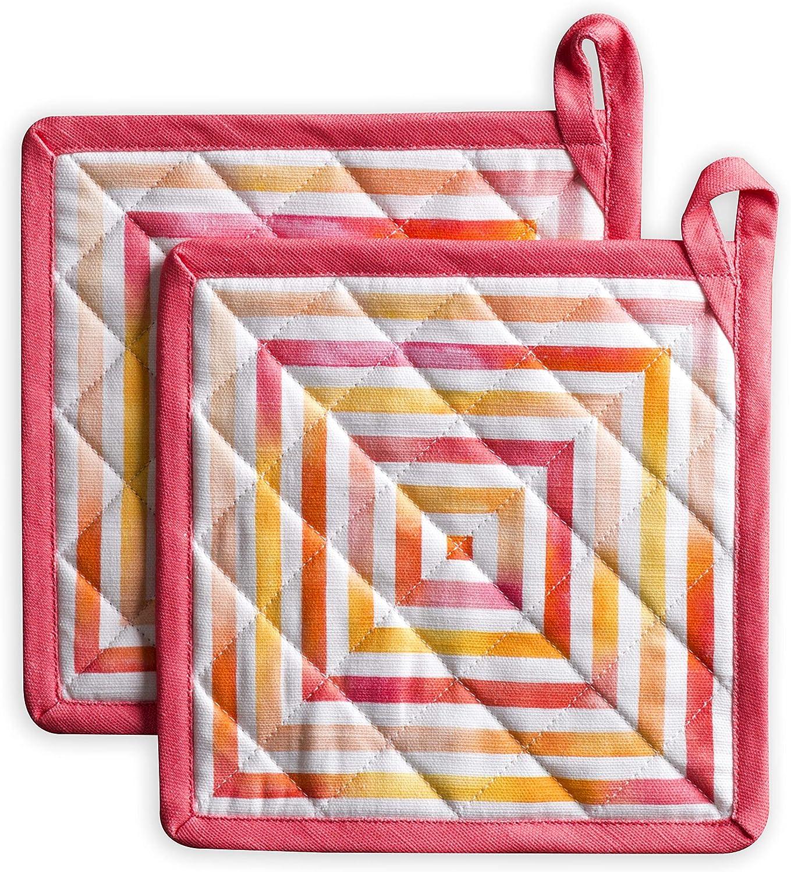 Maison d' Hermine Summer Fort Worth Mall Lowest price challenge Maze 100% Cotton 2 Set Pot Holders w of