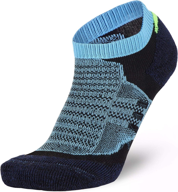 Pure Athlete Merino Wool Socks Men, Women, Youth – Low Cut Cushioned Athletic Running Sock, Moisture Wicking
