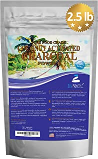 LARGE 2.5 lb. Coconut Activated Charcoal Powder. Whitens Teeth, Rejuvenates Skin and Hair, Detox and helps Digestion. Treats Accidental Poisoning, Bug Bites and Wounds. USA-Owned Producers, FREE scoop