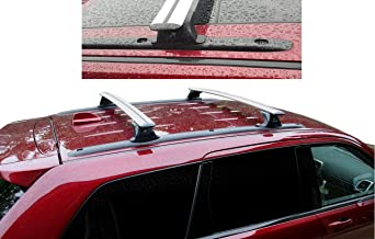 BRIGHTLINES Roof Rack Crossbars for 2011-2019 Jeep Grand Cherokee Altitude/SRT with Roof Black Moldings