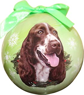 Springer Spaniel Christmas Ornament Shatter Proof Ball Easy To Personalize A Perfect Gift For Springer Spaniel Lovers