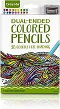 مداد رنگی Crayola دو رنگی، 36 رنگ + پاداش Target Premium ابزارهای هنری، مداد رنگی کم رنگ برای کتاب های رنگ آمیزی بزرگسالان و کودکان و نوجوانان 4 و بالا، عالی برای سایه، درجه بندی، هنر خط و بیشتر