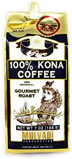Mulvadi, Coffee Bean 100 Kona, 7 Ounce