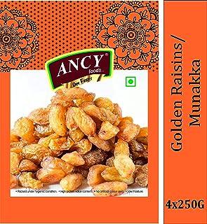 Ancy Foods Immunity Boosting Munakka , Abjosh , Raisins 1kg (4x250g)