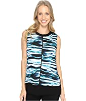 Calvin Klein - Printed Top w/ Ribbed Trim