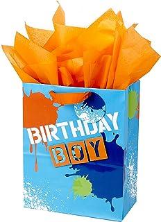 Hallmark کیسه بزرگ هدیه با کاغذ بافت برای تولد، احزاب و بیشتر بچه ها (پسر زود هنگام)