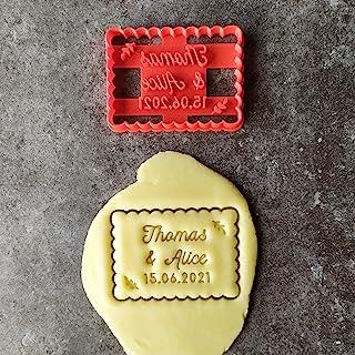 Emporte-pièce petit beurre couple - Personnalisable avec prénom| Conçu et fabriqué en France