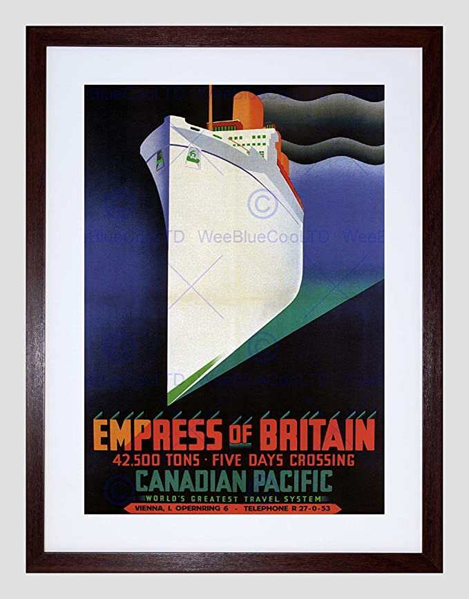 EMPRESS OF BRITAIN CANADA SHIP CRUISE Vintage Travel Canvas art Prints