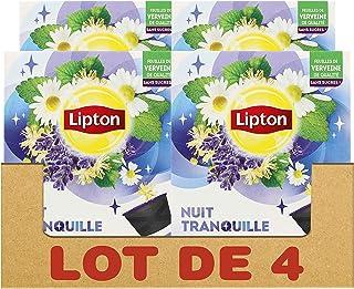 Lipton Infusion Nuit Tranquille, Tilleul, Verveine & Camomille, Capsules Compatibles Nescafé Dolce Gusto 48 Capsules (Lot ...