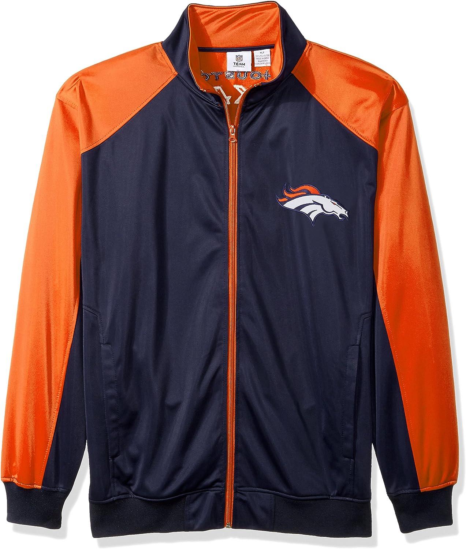 NFL Team 35%OFF Apparel mens Broncos Track Full Jacket Zip 出荷 Tricot