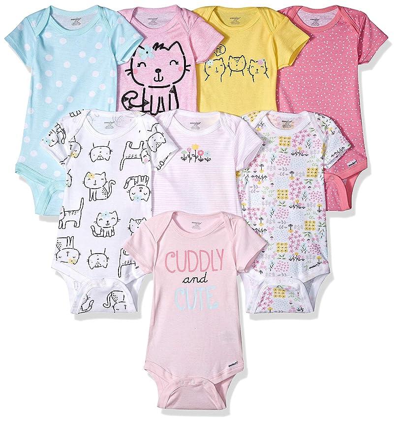 Onesies Brand Baby Girls' 8-Pack Short-Sleeve Bodysuit