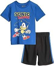 SEGA Sonic The Hedgehog Boys Short Sleeve T-Shirt Mesh Shorts Set
