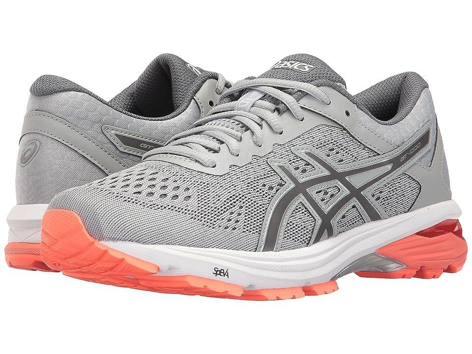 ASICS GT-1000 6 (Mid Grey/Carbon/Flash Coral) Women