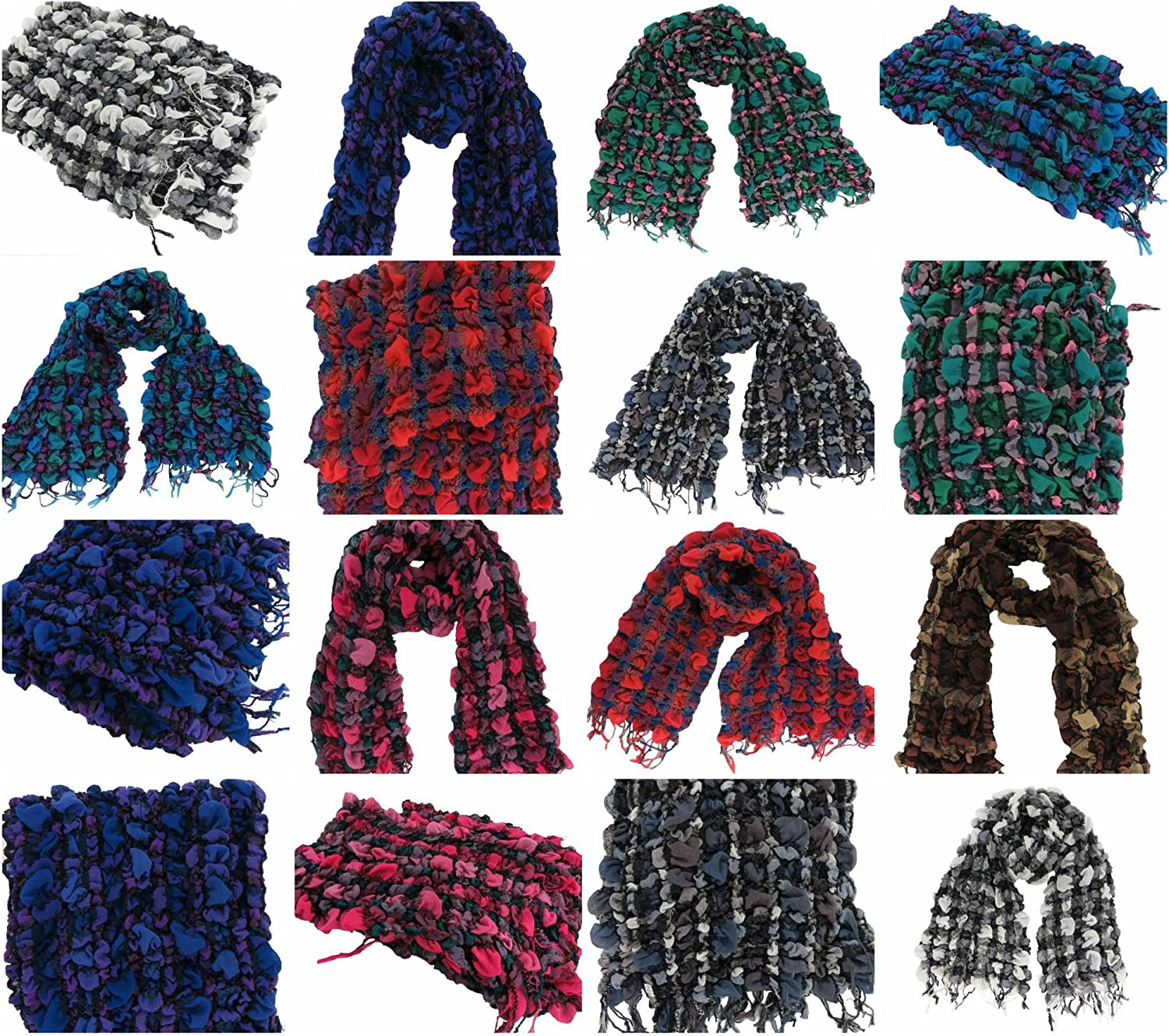 10 scarves wholesale plaid checker winter thick warm