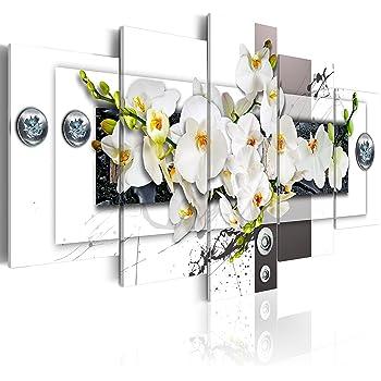 B/&D XXL murando Impression sur Toile intissee 200x100 cm cm 5 Parties Tableau Tableaux Decoration Murale Photo Image Artistique Photographie Graphique b-C-0150-b-n
