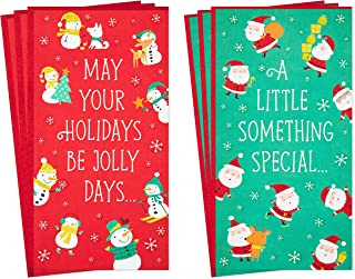 Hallmark Christmas Money or Gift Card Holders Assortment, Snowmen and Santa (6 Holiday Cards and Envelopes)