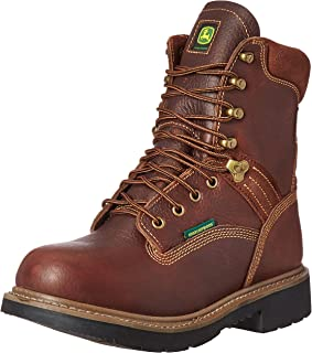 John Deere Men's 8 Brn Waterproof Farm/Wrk Nst LU Work Boot