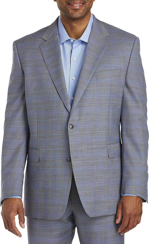 Tallia Plaid Suit Jacket, Grey