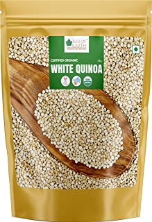 Bliss of Earth USDA Organic White Quinoa 1kg Organic for Weight Loss, Raw Super Food