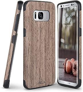 Galaxy S8 Plus Case, B BELK [Slim to Beat] Soft Wood Air Cushion Premium Rubber Bumper [Thin Light] Flexible TPU Back Cover, Shock Resistant Wooden Armor for Samsung Galaxy S8 Plus - 6.2 inch, Walnut