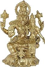 Hayagreeva Avatar of Vishnu with his Consort Lakshmi - Bronze Statue