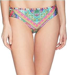 Scarf Medallion Reversible Bikini Bottom