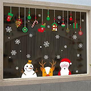 Cabina de Navidad la decoración del hogar de vinilo ventana