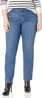 جينز من ليي للنساء بمقاس كبير ومريح مستقيم ذو قصة ارجل مستقيمة