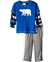 Hatley Kids - Tee & Track Pants Set - Classic Polar Bears (Infant)