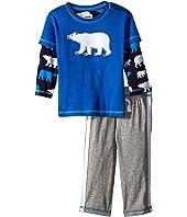 Hatley Kids - Tee & Track Pants Set - Classic Polar Bears (Infant)