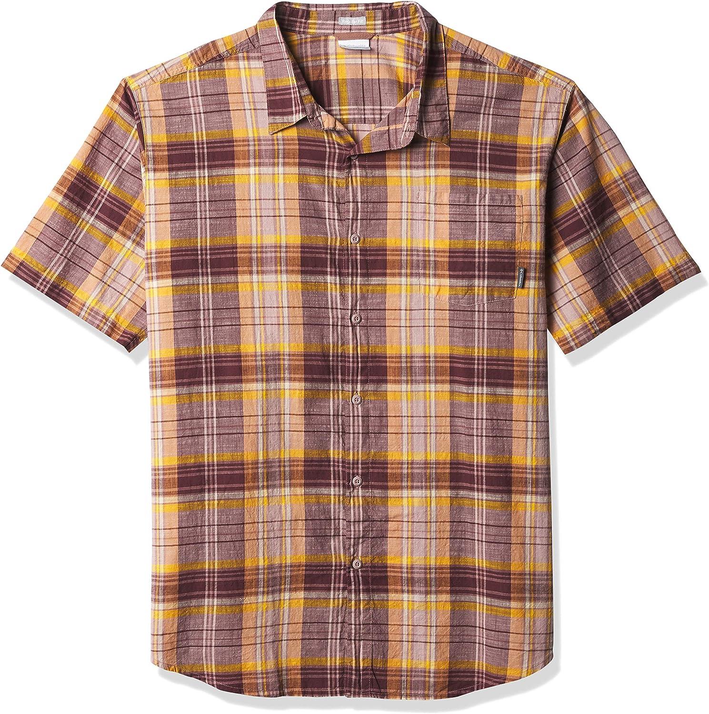 Columbia Men's Under Exposure Yarn All items free shipping Short Shirt Purchase Sleeve Dye