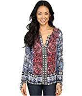 Lucky Brand - Long Sleeve Top with Border Print