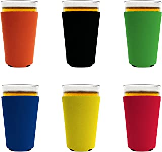 Blank Foam Pint Glass Coolie(s), Collapsible Bottom (6, Various)