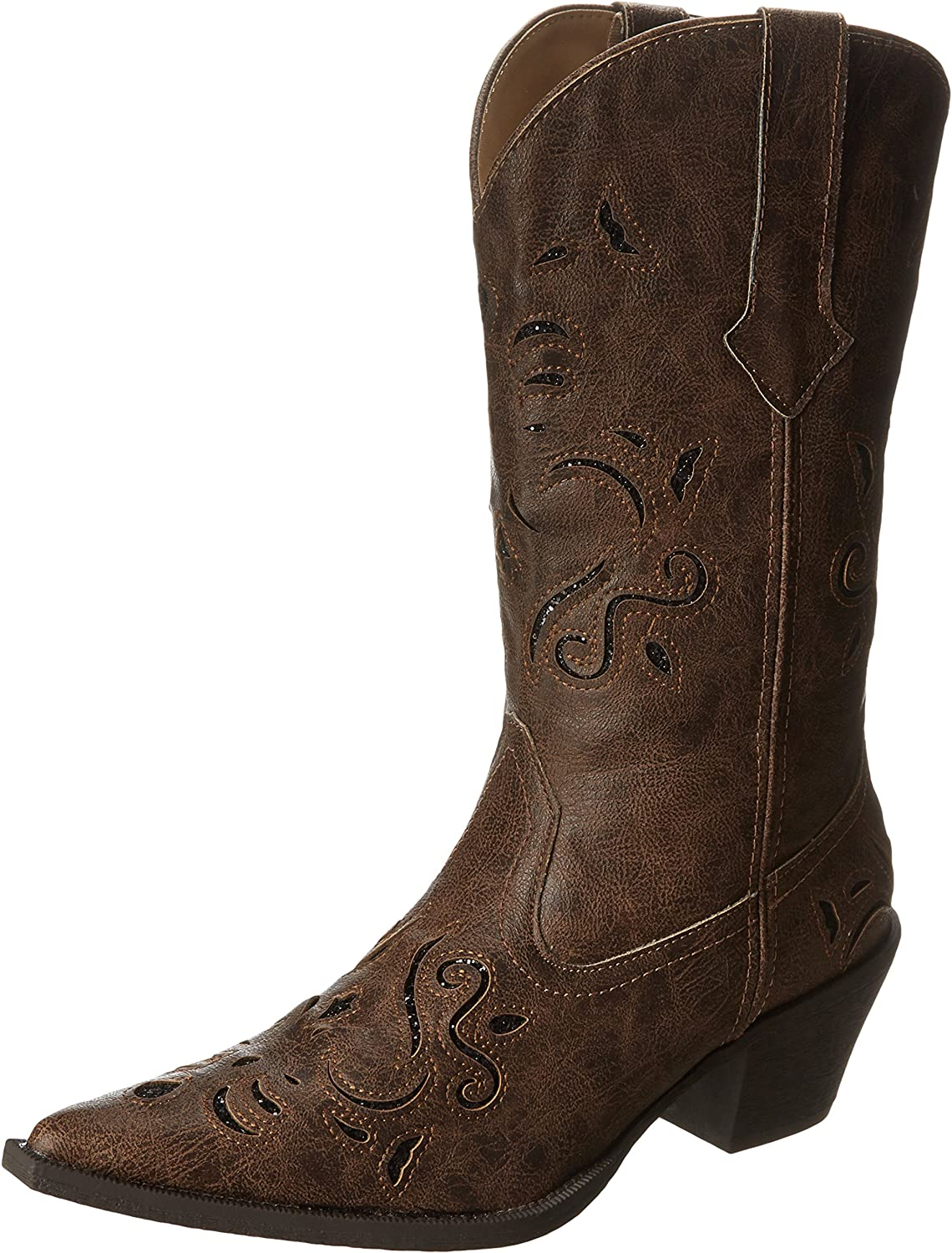 ROPER Women's Vintage Faux Leather S Inlay Max 75% OFF Boot Store Cowgirl Glittery