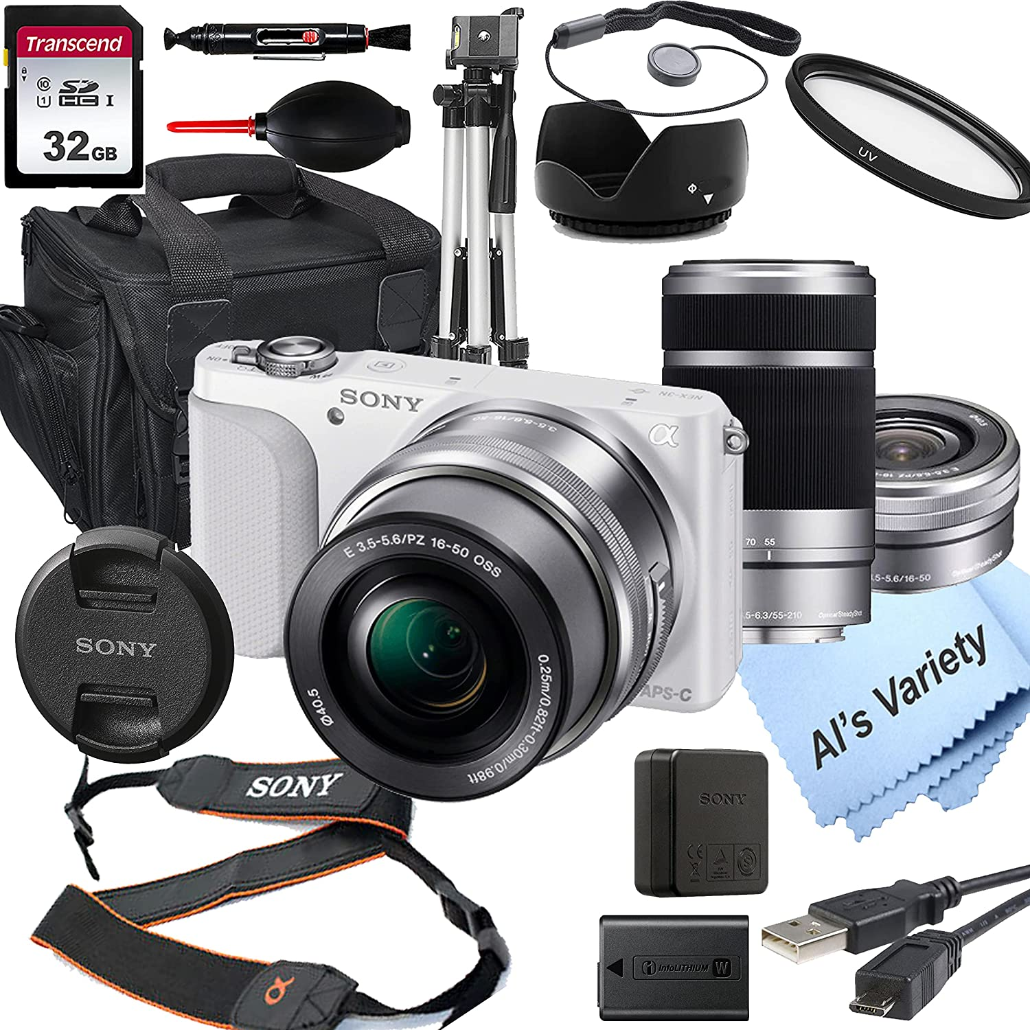 Sony Alpha Super Special SALE held a5100 White Mirrorless Camera with 16-50mm Digital 40% OFF Cheap Sale