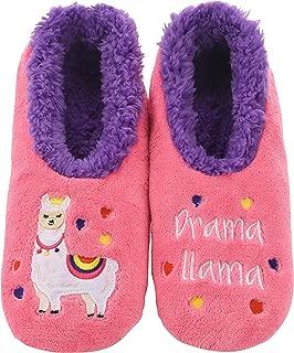 Womens Classic Splitz Applique Slipper Socks - Womens Slipper Socks - Womens House Slipper Socks - Cozy Slippers for Women - Cozy Womens Slipper Socks