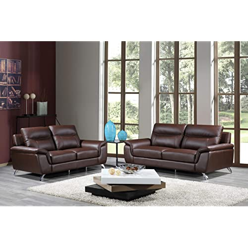 Genuine Leather Sofa Set: Amazon.com