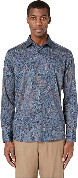Slim Fit All Over Paisley Shirt