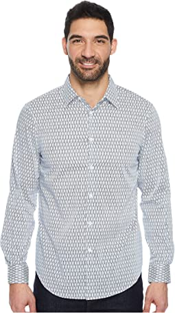 Perry Ellis - Long Sleeve Slashed Argyle Shirt