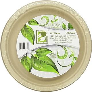 Earth's Natural Alternative Eco-Friendly, Natural Compostable Plant Fiber 10