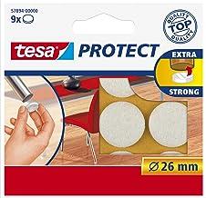 Tesa Oppervlaktebeschermers, Anti Scratch Zelfklevend Vilt Rond 18 Mm Dia, Wit (16 Pads) (Oude Versie) 26 mm Diameter/9 Pa...