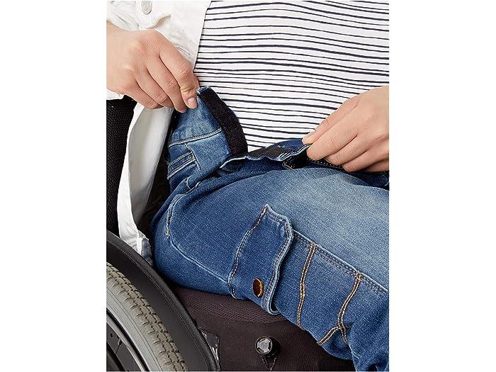 Seven7 Adaptive Seed Tummyless Easy Straight Jeans W/ Cargo Pocket In Grove