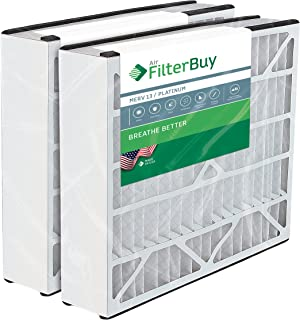 FilterBuy 20x25x5 Air Bear Trion 229990-102 Compatible Pleated AC Furnace Air Filters (MERV 13, AFB Platinum). 2 Pack.