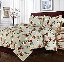 طقم اغطية سرير تريبيكا ليفينج FLO120DUVETKI مدريد مطبوع عليها زهور كبيرة الحجم، كينغ ، متعدد الالوان