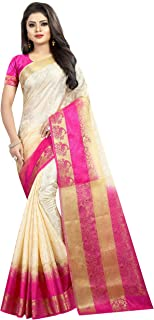 C J Enterprise Women's Art Silk Saree With Blouse Piece