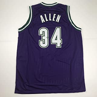 Unsigned Ray Allen Milwaukee Purple Custom Stitched Basketball Jersey Size Men's XL New No Brands/Logos