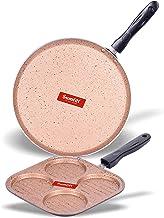 Sumeet Nonstick Granite Finish 2Pc Omega Cookware Set (Dosa Tawa - 26.5cm Dia + Mini Multi Snack Maker - 4 Cavity - 19.5cm Dia)