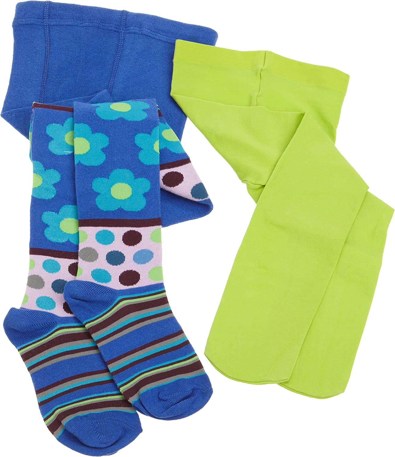Country Kids Little Girls' 2 Pack Pattern/Solid Tight Combination
