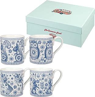 Churchill Owl And Rabbit Fine China Gift Coffee Tea Mugs Set of 4