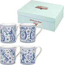 Churchill Owl And Rabbit Fine China Gift Coffee Tea Mugs Set of 4